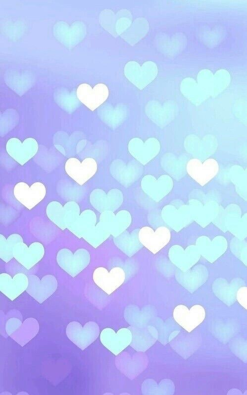 The gallery for --> Light Purple Hearts Background