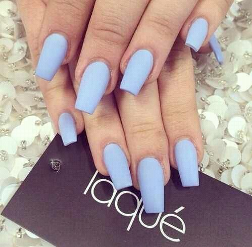 acrylic beauty fashion laque light blue  image