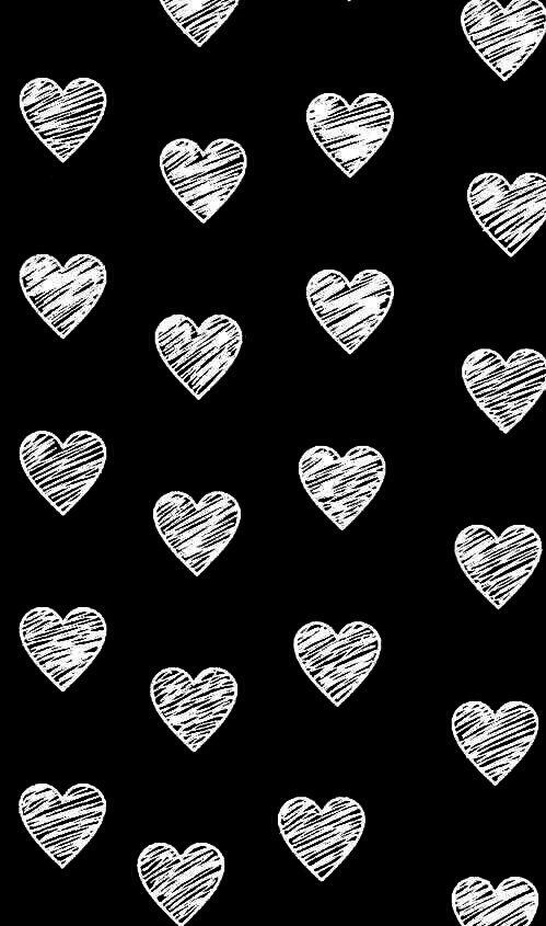 Black And White Heart And Wallpaper Image 4115267 On Favim Com