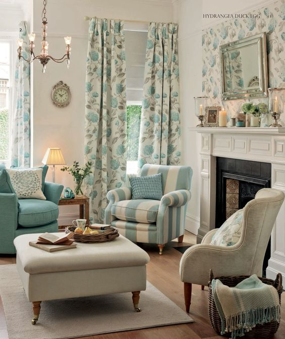 Laura ashley love this living room the colors are so for Peaceful living room ideas