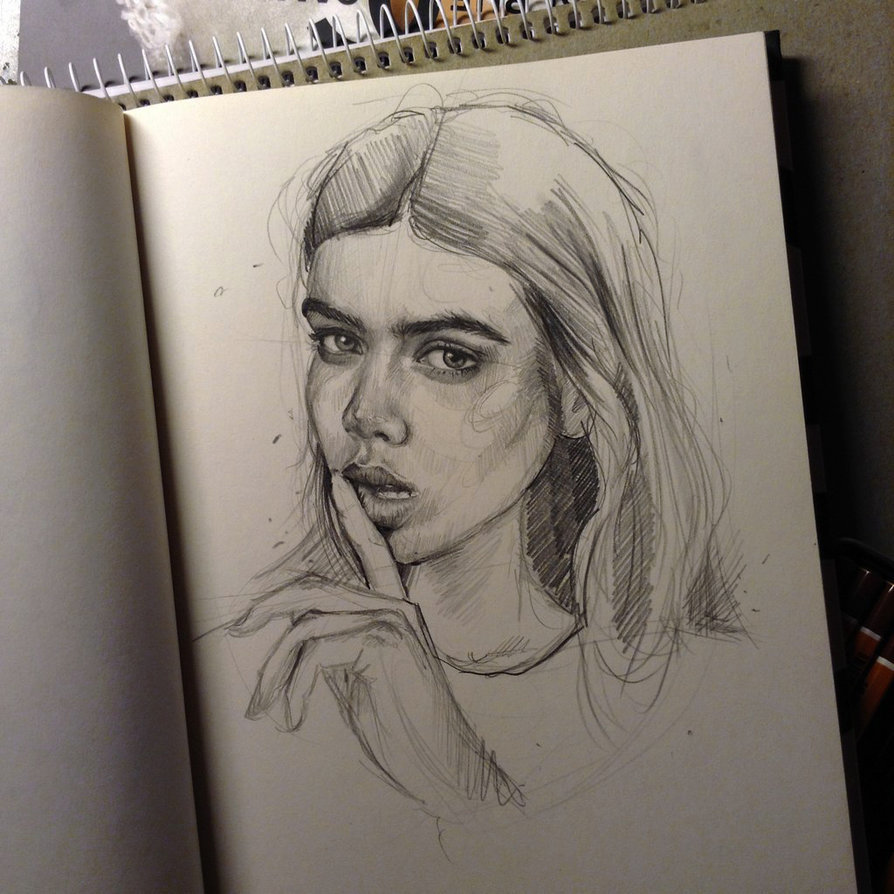 Pencil and digital drawings, lines, sketches etc Art by Caroline Pencil sketch girl photo