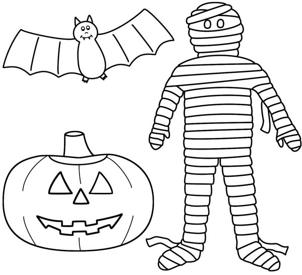 Happy Halloween Pumpkin Coloring Pages Printable Free