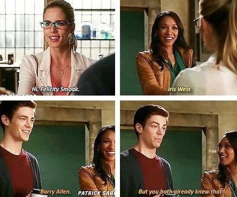 grant gustin, the flash, barry allen, felicity smoak ...