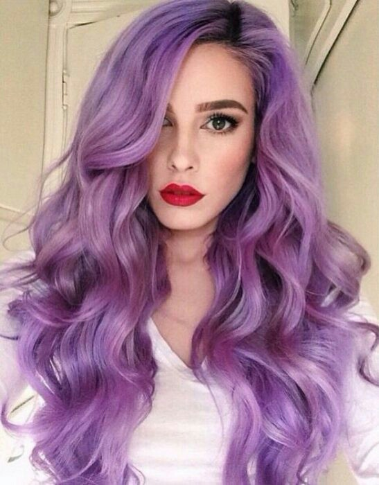 Beautiful Girl Hair Hair Color Purple Image 4853387
