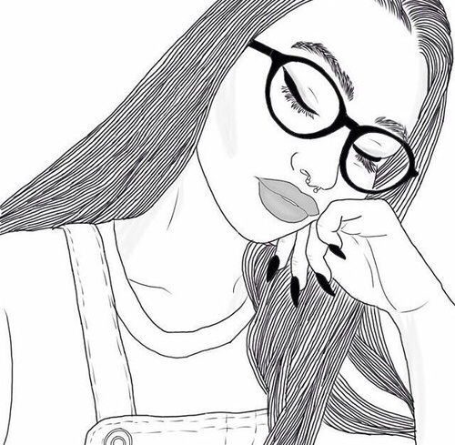 Drawing Girl Outline Outlines Tumblr Girl Image