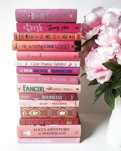 book, books, cozy, flowers, girly